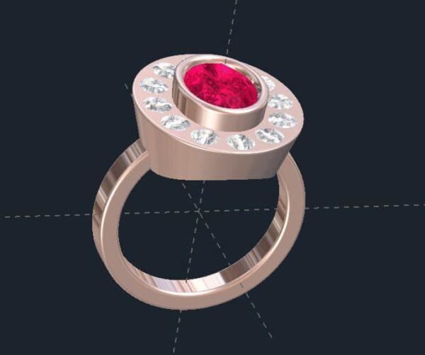 Bezel Set Halo Ring
