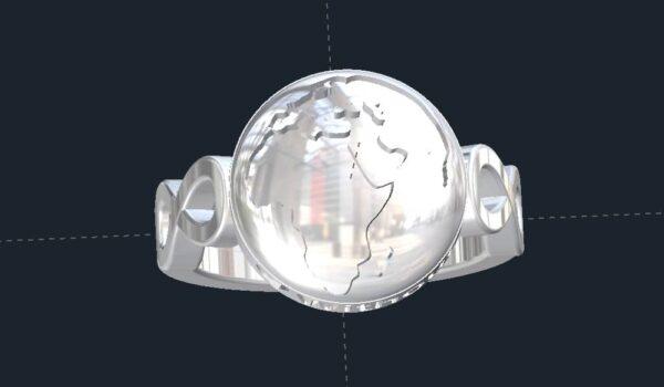 Infinity Globe Ring