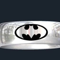 Inverse Batman Wedding Rings