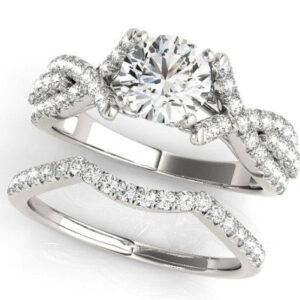 Custom Split Shank Cathedral Engagement Ring