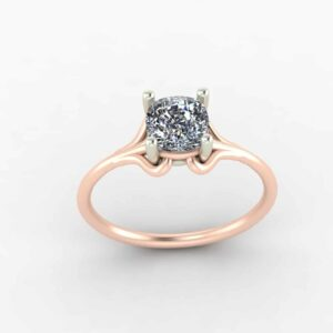 2 Tone Solitaire Ring
