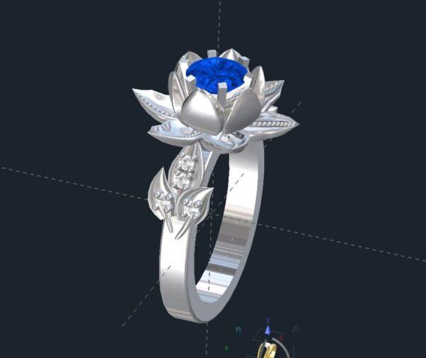 lotus flower engagement rings