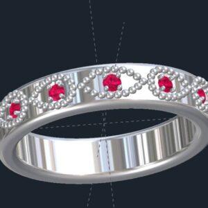 Custom Milgrained Wedding Ring