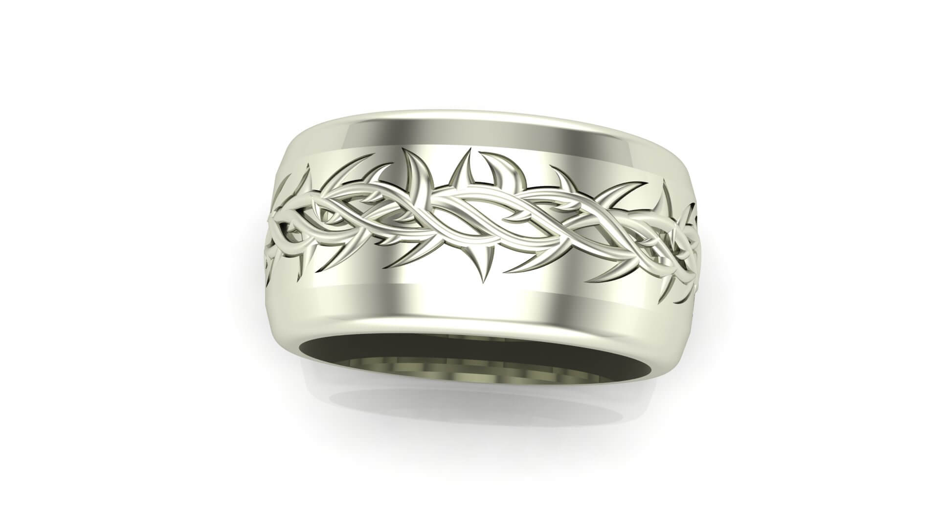 Custom Wedding Rings.Crown Of Thorns Wedding Band