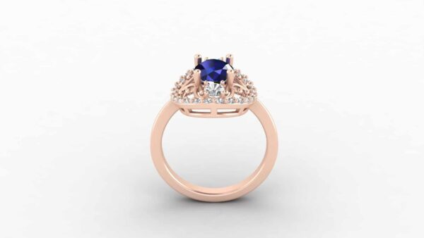 Custom Vintage Halo Ring