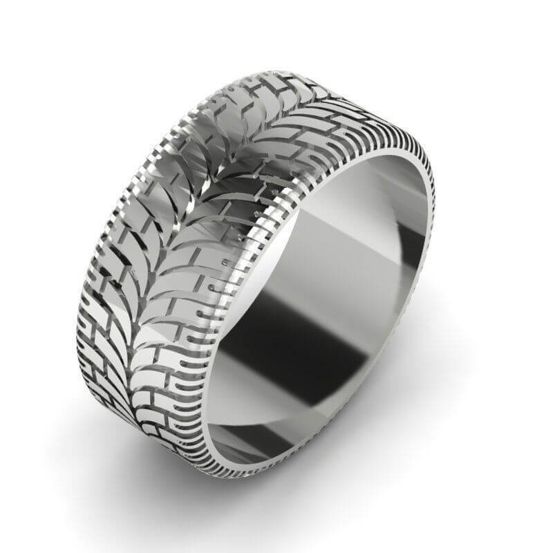 Custom Wedding Rings.Custom Tire Tread Wedding Ring