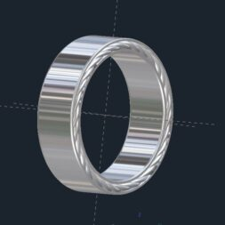 Braided Men's Wedding Ring