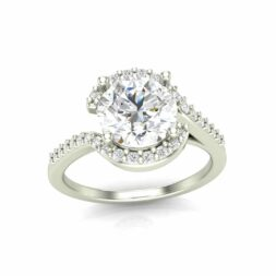 Semi Halo Engagement Ring