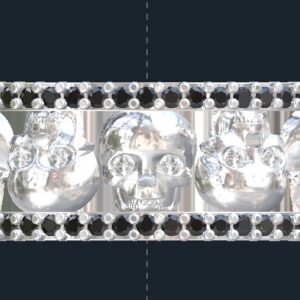 Diamond Skull Wedding Rings