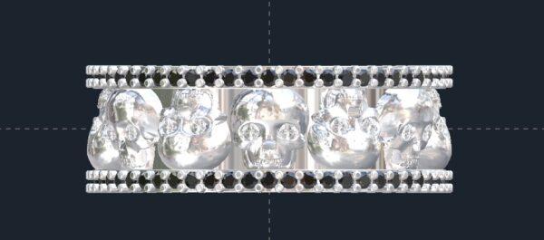 custom men's skull ring