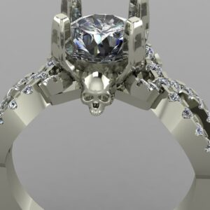 infinity skull engagement ring