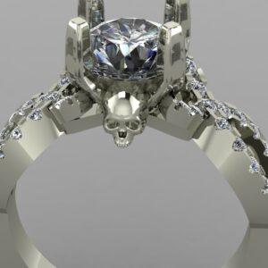 infinity skull engagement ring