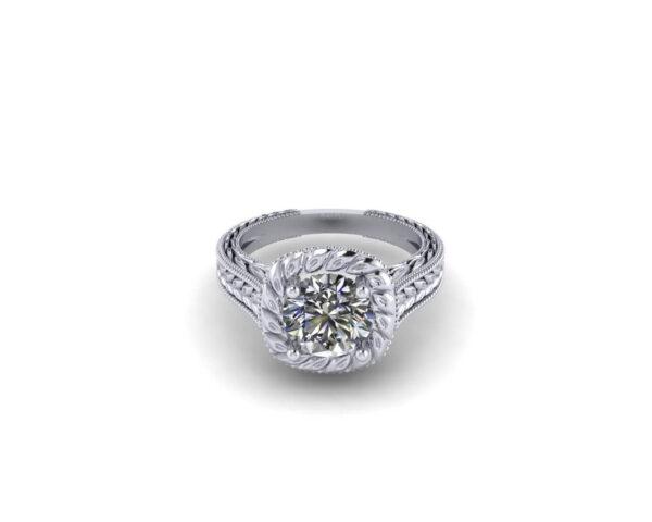 Art Deco Solitaire Engagement Ring