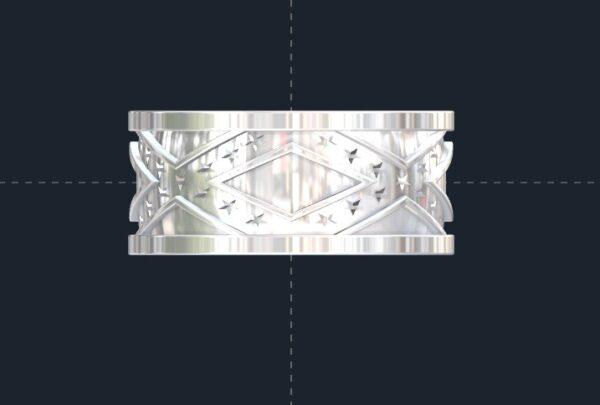 Custom Confederate Flag Wedding Ring