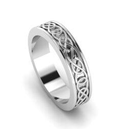Celtic Weave Wedding Band