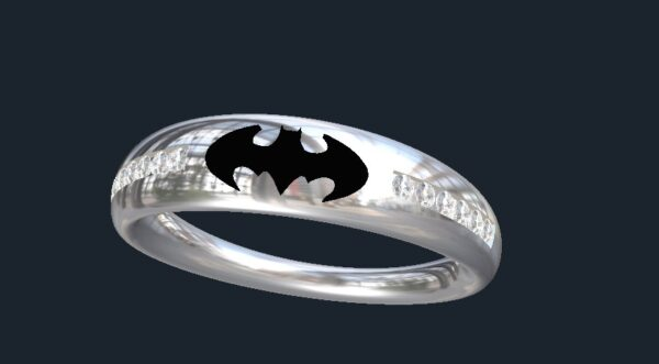 tapered batman wedding band