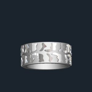 custom tire tread wedding ring