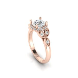 Celtic Halo Engagement Ring