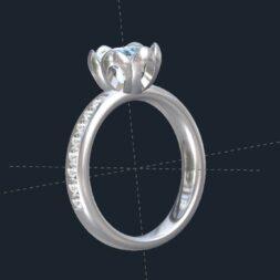 Custom Flower Engagement Ring