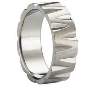 Sculptural Titanium Wedding Ring