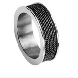 Mesh Titanium Wedding Ring