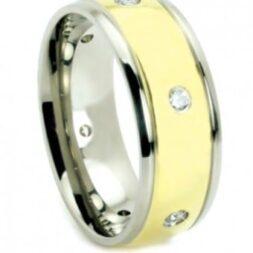 Accented Titanium Wedding Ring