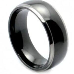 2 Tone Titanium Wedding Ring