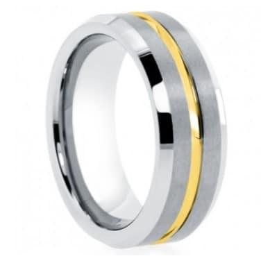 Tungsten Wedding Rings.Gold Tungsten Wedding Ring