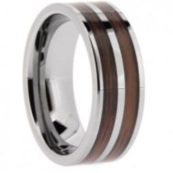 Wood Tungsten Wedding Ring