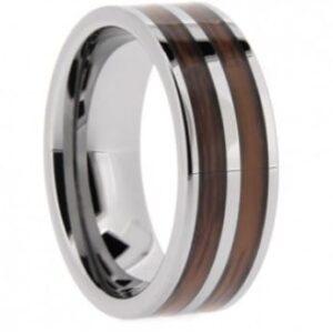 Wood Tungsten Wedding Ring