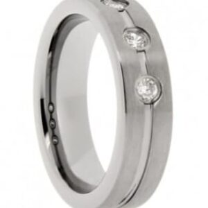 Accented Tungsten Wedding Ring