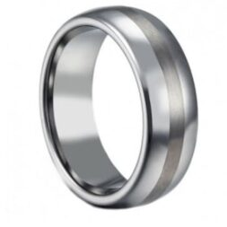 Satin Titanium Wedding Ring