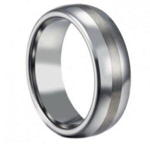 Satin Titanium Wedding Ring