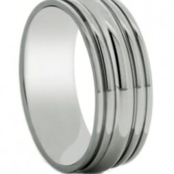 Scalloped Titanium Wedding Ring