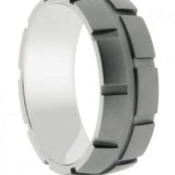 Textured Titanium Wedding Ring