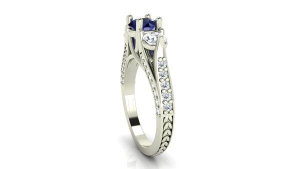 Custom 3 stone engagement ring