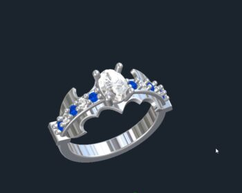 Batman Engagement Rings