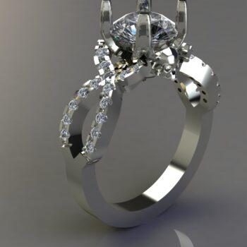 Diamond Infinity Rings