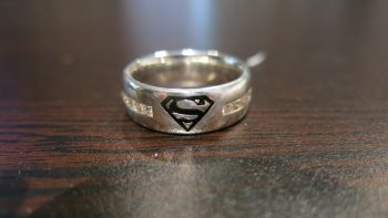 diamond superman wedding ring