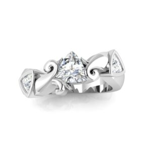 Trillion 3 Stone Engagement Ring