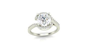Semi Halo Engagement Ring