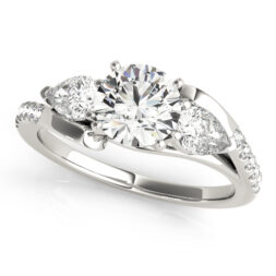 Split Shank 3 Stone Engagement Ring