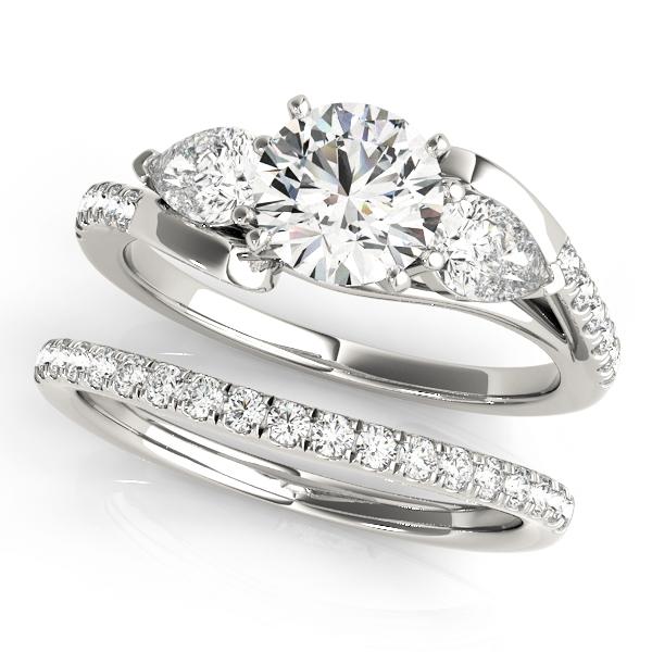 Split Shank 3 Stone Engagement Ring