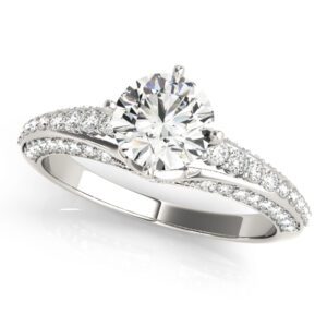 Graduated Cathedral Engagement Ring