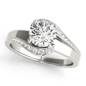 Semi Halo Bypass Engagement Ring