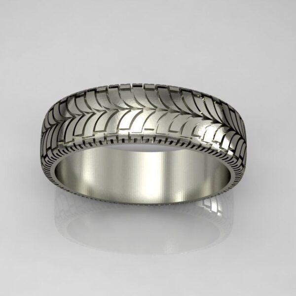 Street Tire Tread Wedding Ring