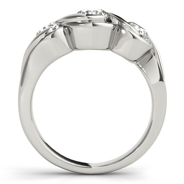 Three Stone Bezel Set Engagement Ring
