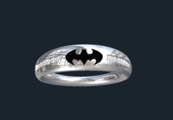 Custom superhero wedding Bands