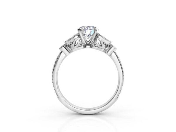 Vintage Floral Engagement Ring