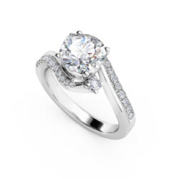 3 Stone Bypass Engagement Ring